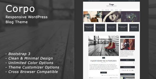 Corpo - Responsive WordPress Blog Theme