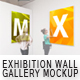 Exhibition Wall Gallery Mockup - GraphicRiver Item for Sale