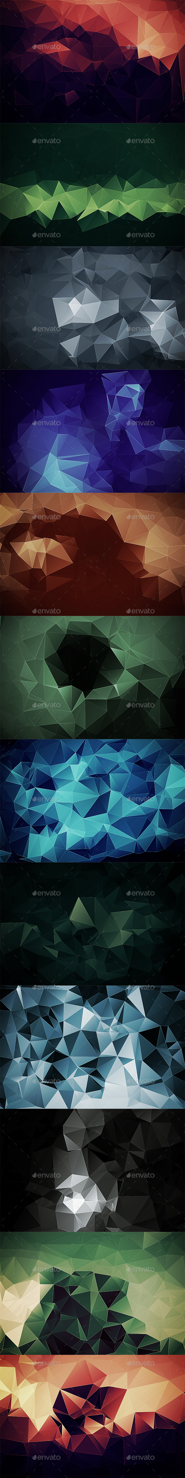 Abstract Polygonal Backgrounds Vol7 - Abstract Backgrounds