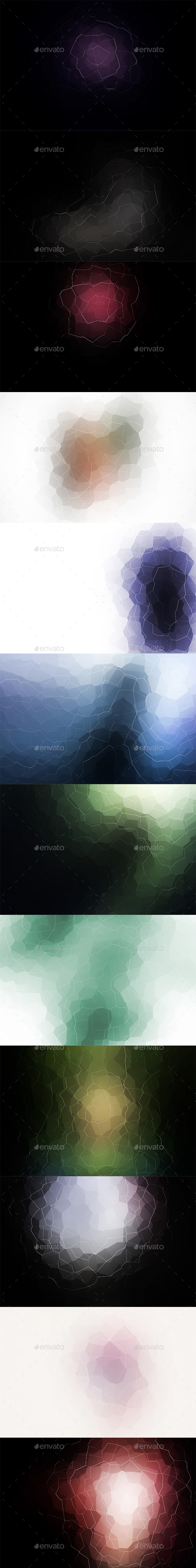 Crystallized Backgrounds Vol14 - Abstract Backgrounds