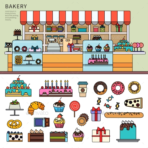 Sweet Confectionery in the Bakery - Birthdays Seasons/Holidays