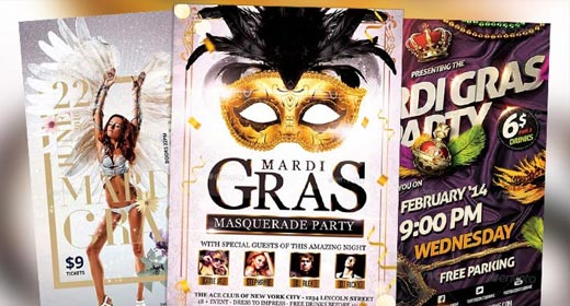 Best Mardi Gras Flyer Templates