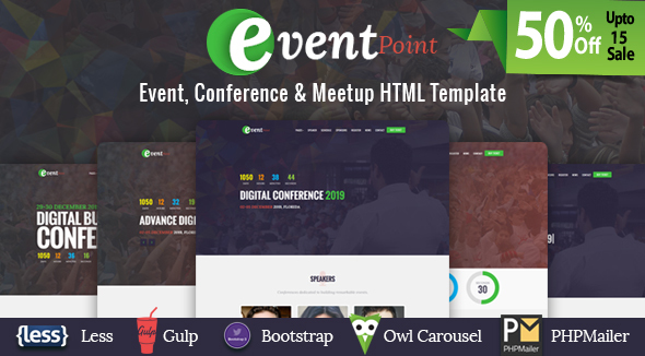 Event Point – Event, Conference & Meetup HTML Template