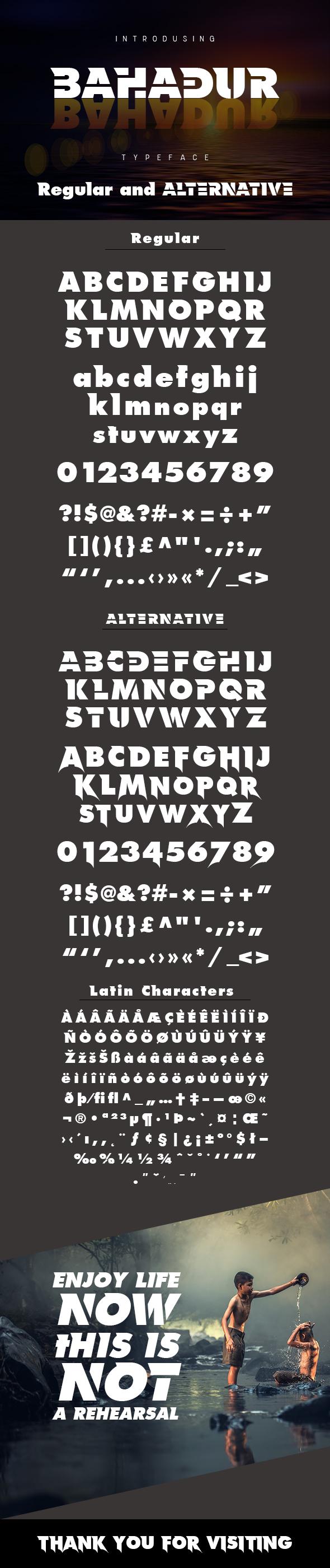 Bahadur Typeface - Sans-Serif Fonts