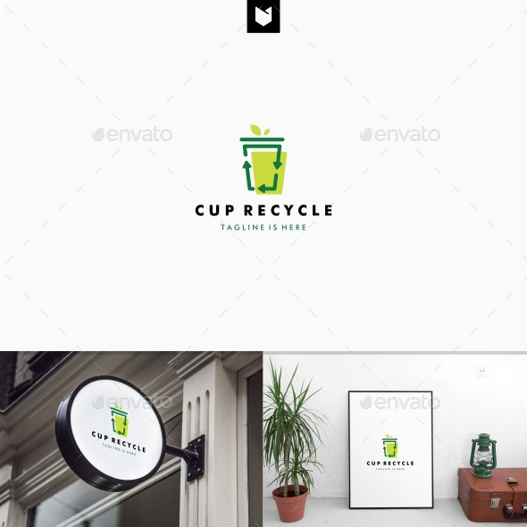 Cup Recycle Logo - Abstract Logo Templates