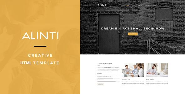 Alinti – Minimal HTML Portfolio