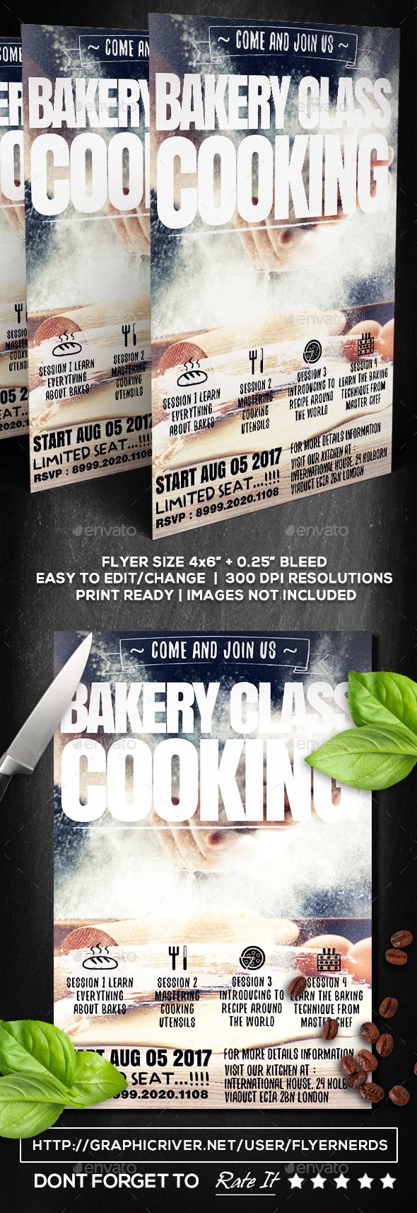 Bakery Class Flyer - Restaurant Flyers