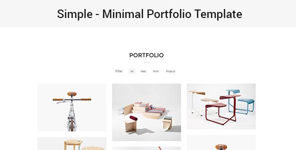Simple – Minimal Portfolio Template