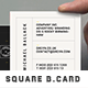Simple Retro Square Business Card - GraphicRiver Item for Sale