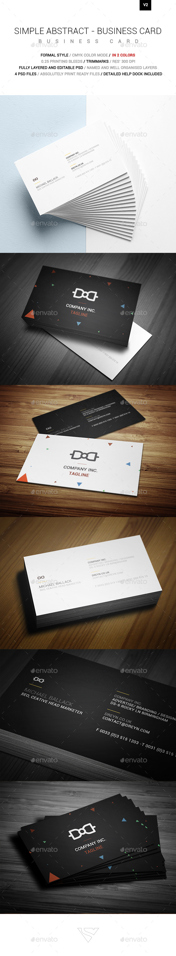 Simple Absract Business Card - Creative Business Cards