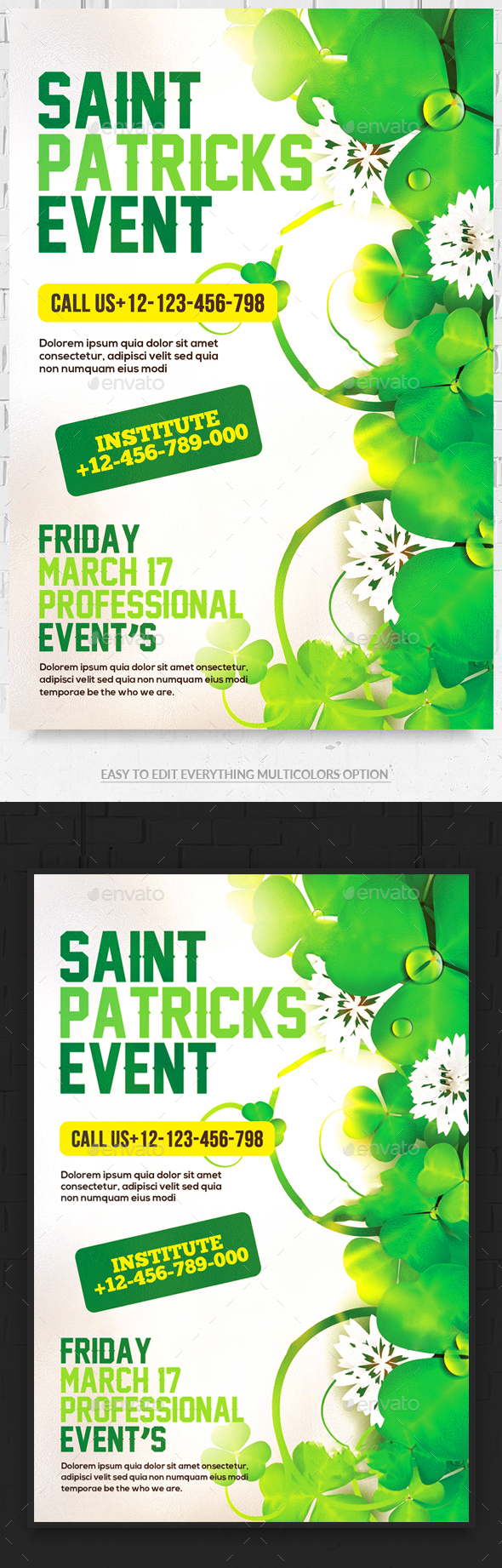 St. Patrick's Day Party Flyer - Events Flyers