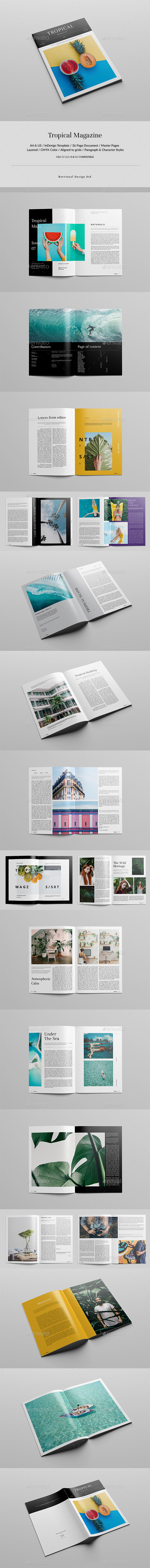 Tropical Magazine - Magazines Print Templates