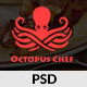 Octopus Chef - Restaurants and Cafes PSD Template Nulled