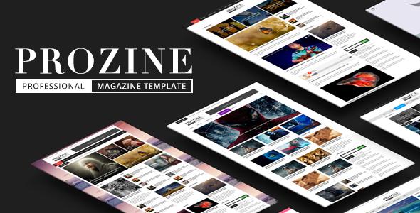 Prozine – Stunning News & Magazine HTML Template