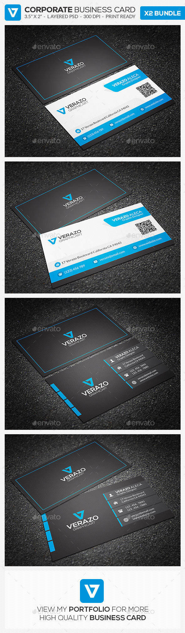Business Card Bundle 25 - Corporate Business Cards