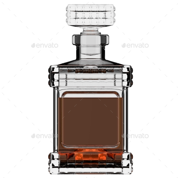 Decanter with Whiskey. 3D Render - Objects 3D Renders