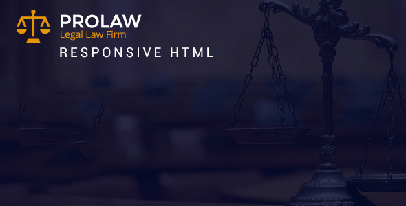 Prolaw Legal Law Firm – Attorney Bootstrap HTML Templates