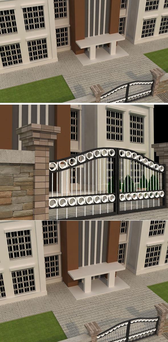 Building Exterior - 3DOcean Item for Sale