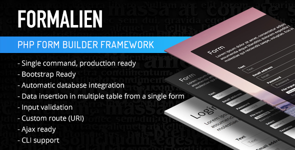 PHP Form Builder Framework - CodeCanyon Item for Sale