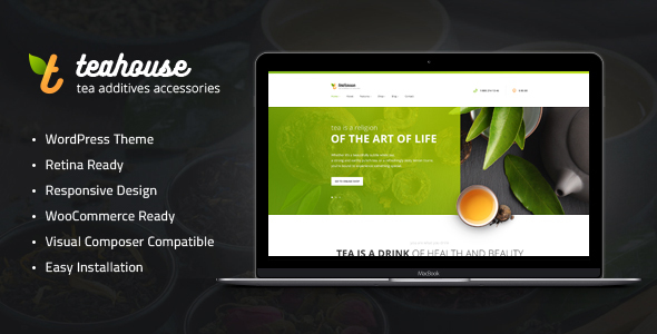 Tea House | Tea Store and Cafe WordPress Theme - Food Retail