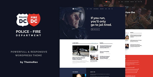 Police & Fire Departments and Security Business WordPress Theme