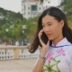 Vietnamese Girl Talking on the Phone - VideoHive Item for Sale