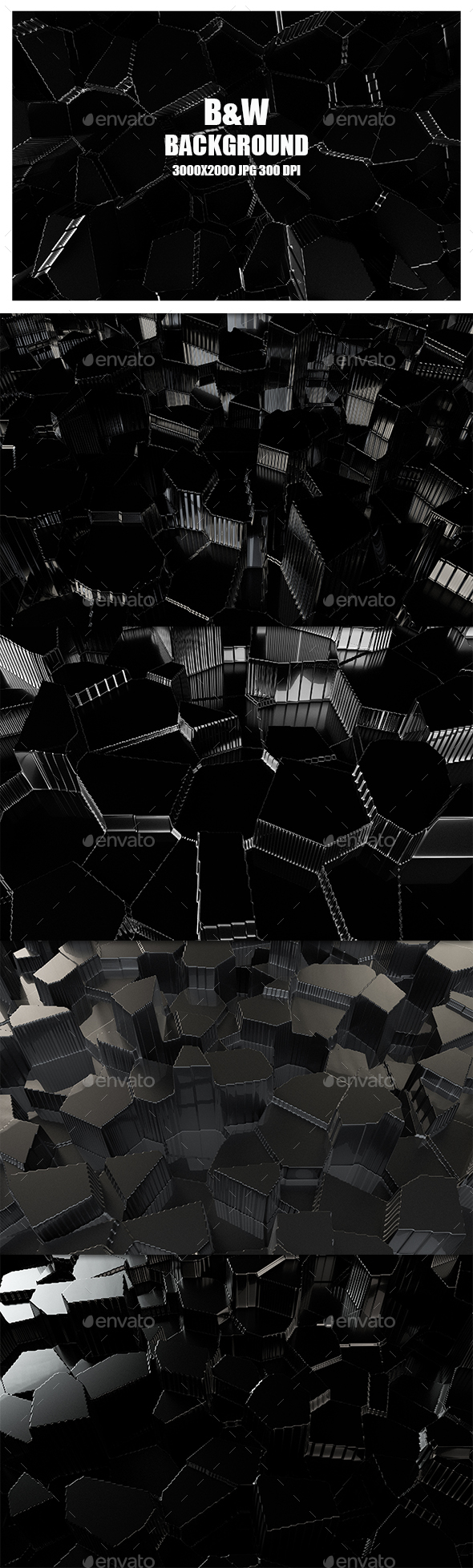 B&W Background - 3D Backgrounds