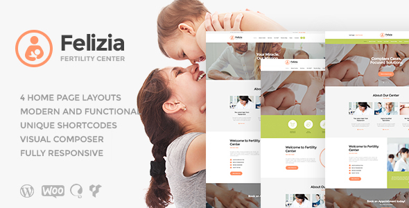 Felizia | Fertility Center & Medical WP Theme