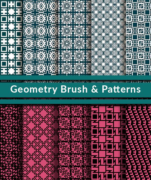 20 Geometry Brush and Pattern - Brushes Photoshop