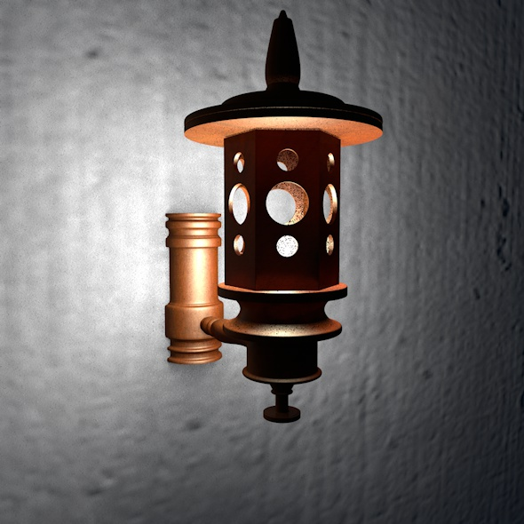 Wooden Wall Lamp 01 - 3DOcean Item for Sale