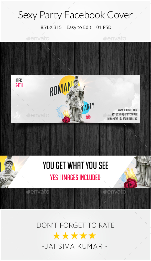 Roman Party Facebook Cover - Facebook Timeline Covers Social Media