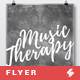 Music Therapy 5 - Creative Poster Artwork Template A3
