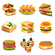 Sandwiches Icons Vector Set - GraphicRiver Item for Sale