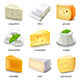 Cheese Types Icons Vector Set - GraphicRiver Item for Sale