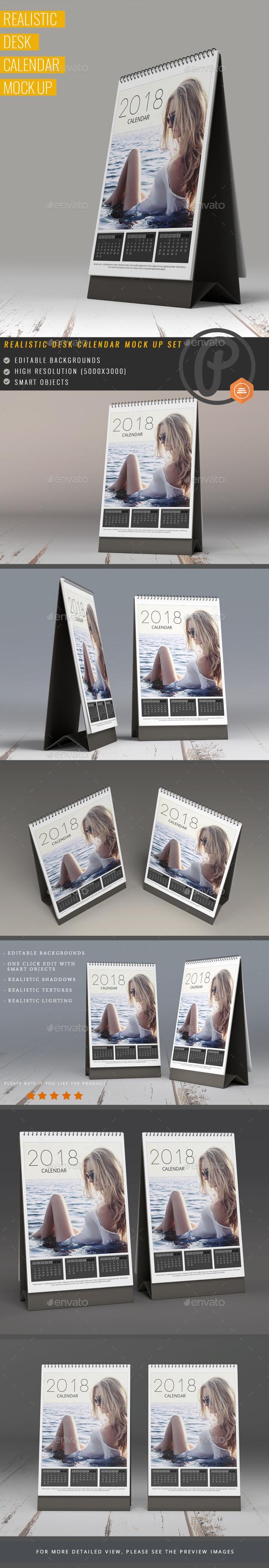 Desk Calendar Mock Up - Miscellaneous Print