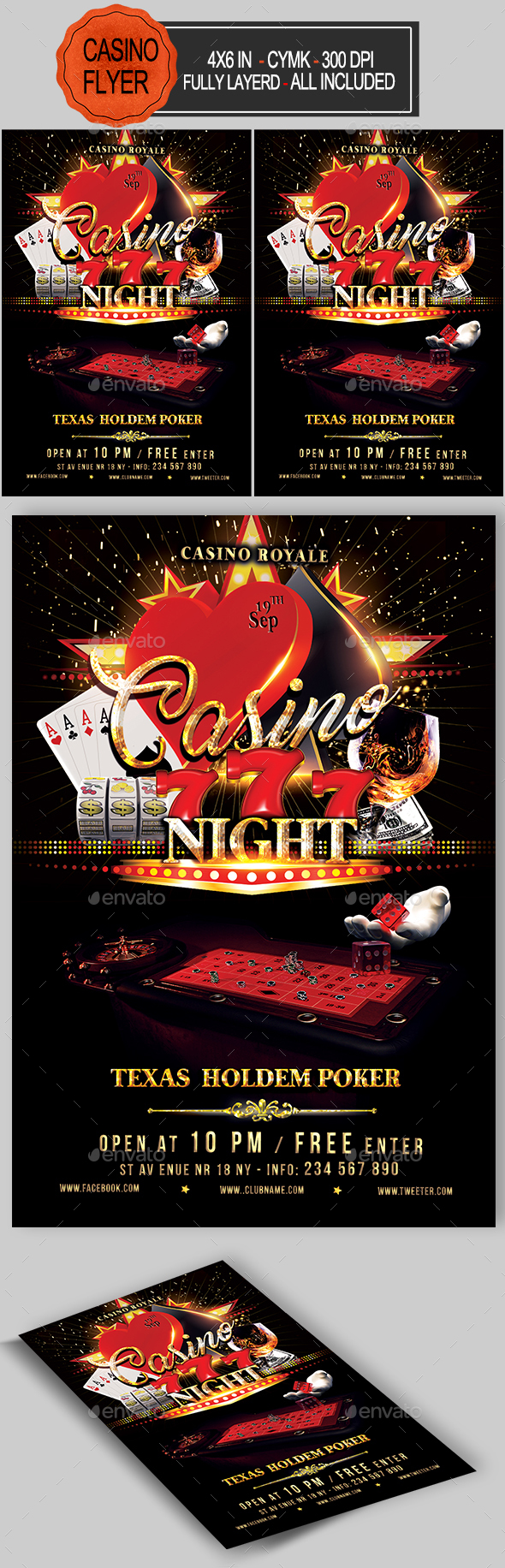 Casino Flyer - Events Flyers