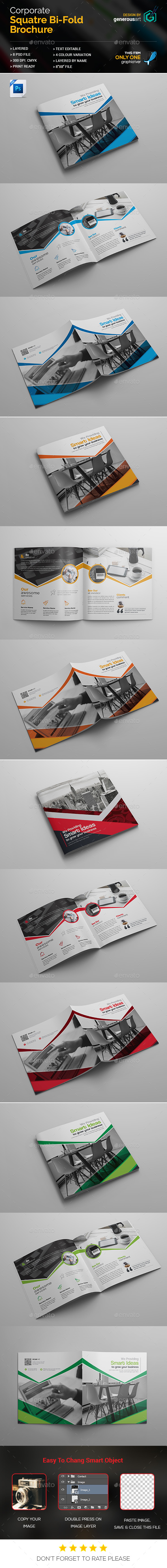 Business Square Bi-Fold - Corporate Brochures
