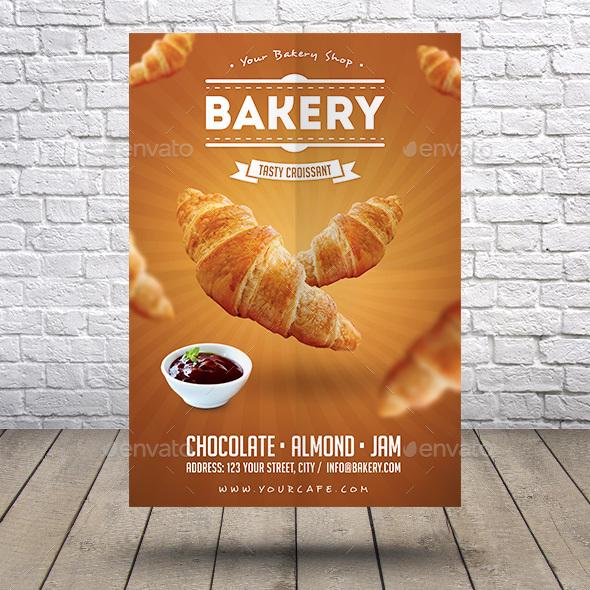 Bakery Croissant Flyer - Restaurant Flyers