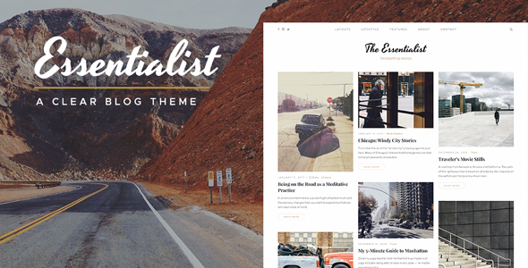 Essentialist — A Clear WordPress Blog Theme