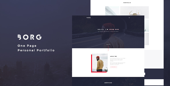 Borg – One Page Personal Portfolio