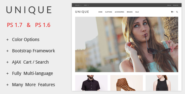 UniqueShop - Prestashop Theme - PrestaShop eCommerce