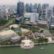 Aerial Footage of City Skyline with Concert Hall in Singapore - VideoHive Item for Sale