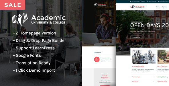 Academic – Education WordPress Theme