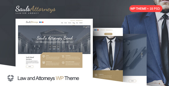 SaulsAttorneys - Lawyers & Attorneys WordPress Theme - Business Corporate
