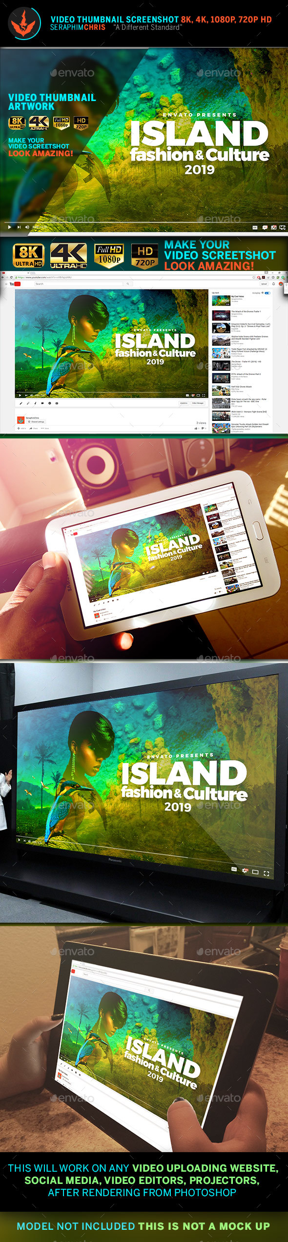 Caribbean YouTube Video Thumbnail Screenshot Template - YouTube Social Media