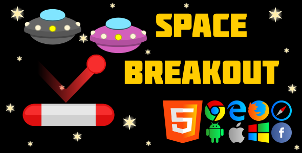 SpaceBreakout - HTML5 Game - CodeCanyon Item for Sale