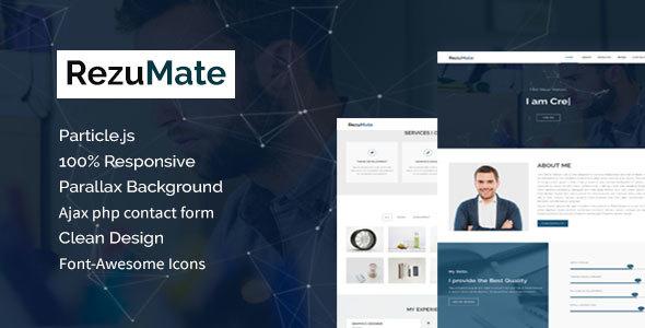 RezuMate – Personal Portfolio Template