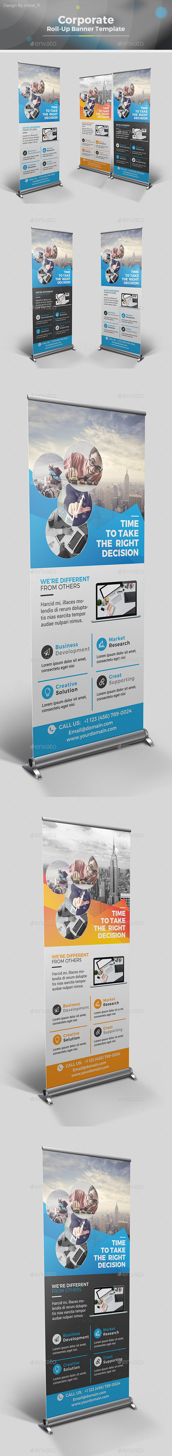 Roll-up Banner Template - Signage Print Templates