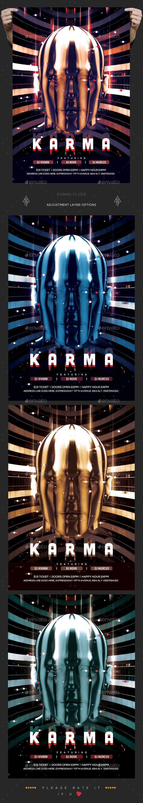 Karma Flyer - Clubs & Parties Events