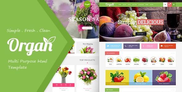 Organ Food Store, Flower Shop Responsive HTML5 Template